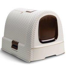 Curver Hooded Cat Litter Box 51x38.5x39.5 cm White 400462