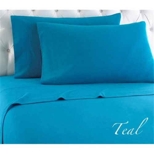 Shavel MFNSSTWTEL Micro Flannel Teal Twin Sheet Set