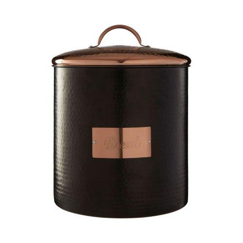 Prescott Black Copper Bread Bin Textured Finish