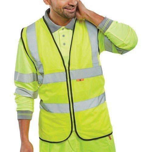 Click CFRWCSY4XL Flame Retardant Hi Vis Yellow Waistcoat XXXL