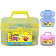 Kreative Kids Yellow Craft Carry Case Set Art Christmas Kids Creative Gift 200 Piece