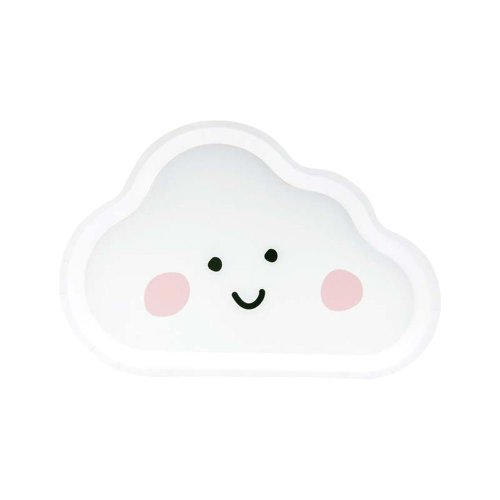 Sweet Dreams Paper Party Plates Cloud Design White x 6