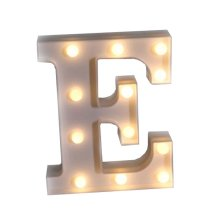 LED Letter Lights Marquee Signs Letter Night Light Wall Decoration (E)