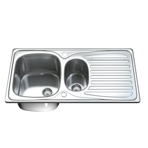 Dihl 1501 1.5 One & Half Bowl Stainless Steel Kitchen Sink with Drainer & Waste
