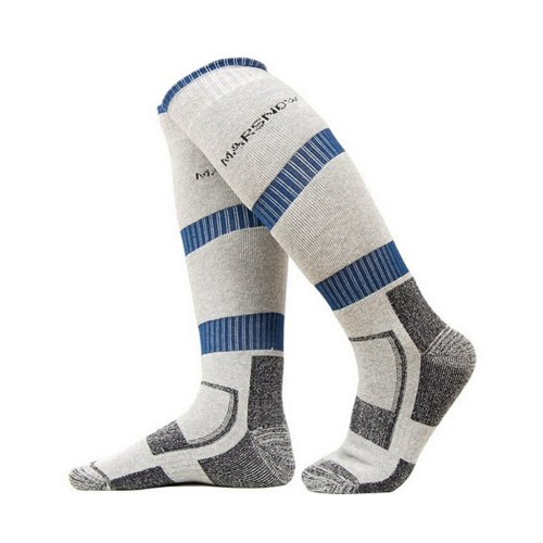 Cool Outdoor Men Hiking Skiing Cycling Socks One Size, GRAY