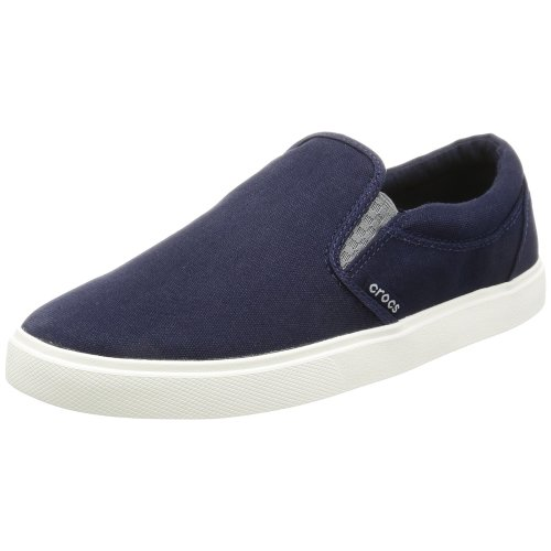 Crocs Citilane Slip-on Sneaker Men Low-Top, Blue (Navy/White), 9 UK (10 US)