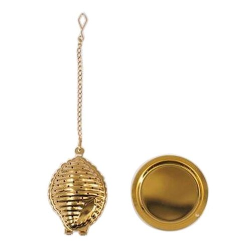 [Gold Conch] Creative Spice/Tea Ball Strainer Tea Filter With Drip Trays