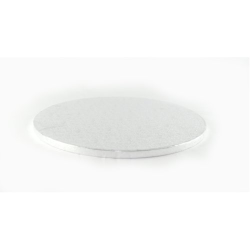 """13"""" Silver Round Cake Drum Board 12mm Thick"""