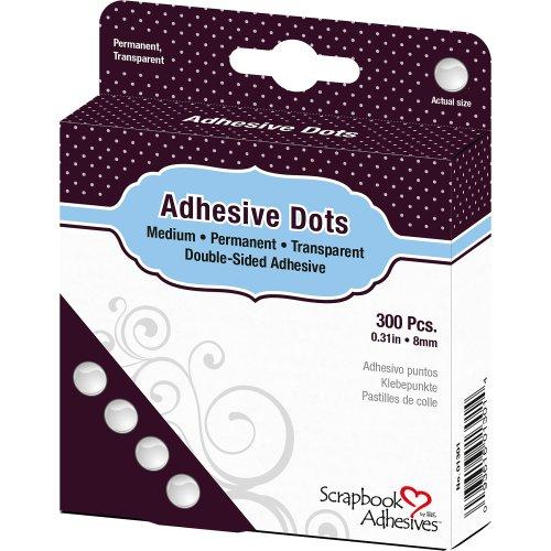 "Dodz Adhesive Dot Roll-Medium .375"" 300/Pkg"