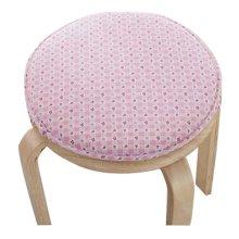 Creative Round Stool Cushion Warm Sponge Pad Bar Stool Mat Pink Flowers
