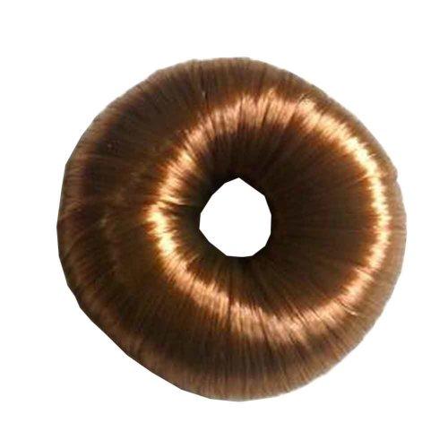 Set of 2 Fake Hair Buns, Hair Donut, Easy to Wear [Light Brown]