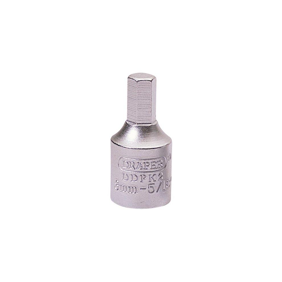 Draper 38321 8mm Hexagon-5/16 3/8 Square Drive Drain Plug Key
