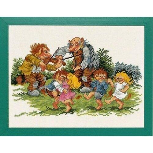 Dancing Ogres Trolls Counted Cross Stitch Kit - Eva Rosenstand - 14-151