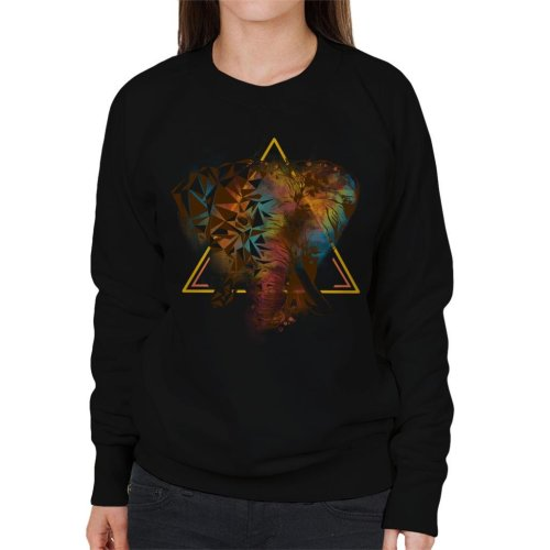 Geometric Elephant Women's Sweatshirt