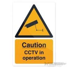 Fixman Cctv In Operation Sign 200 x 300mm Self-adhesive - Cctv Operation x -  cctv operation x 300mm sign selfadhesive 200 fixman 494121