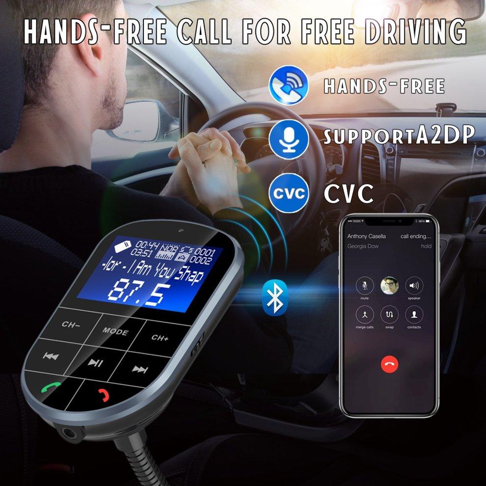 Vorstek FM Transmitter Bluetooth MP3 Player Hands Free Car