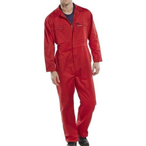 """Click PCBSHWRE34 Super Polycotton Boiler Suit Red 34"""""""