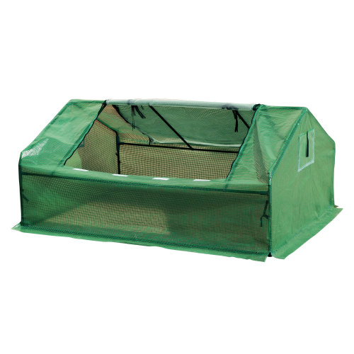 Outsunny 180Lx140Wx80H cm Portable Greenhouse-Dark Green