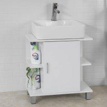 SoBuy® BZR01-W, Under Sink Bathroom Storage Cabinet with Single Door