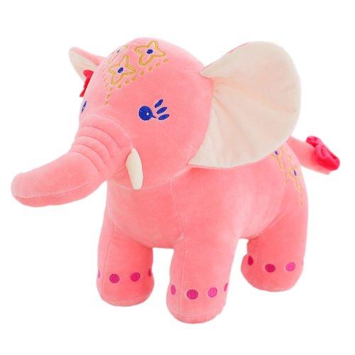 "Novelty Plush Doll Kids Ideal Cute Stuffed Toy/Gift Elephant (L)13.7"" Pink"