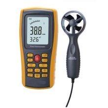 Air Flow Anemometer, YH-THINKING Multifunctional Digital Wind Speed Meter Air Flow Tester Air Temperature Meter Measuring 0~45m/s with USB Interface
