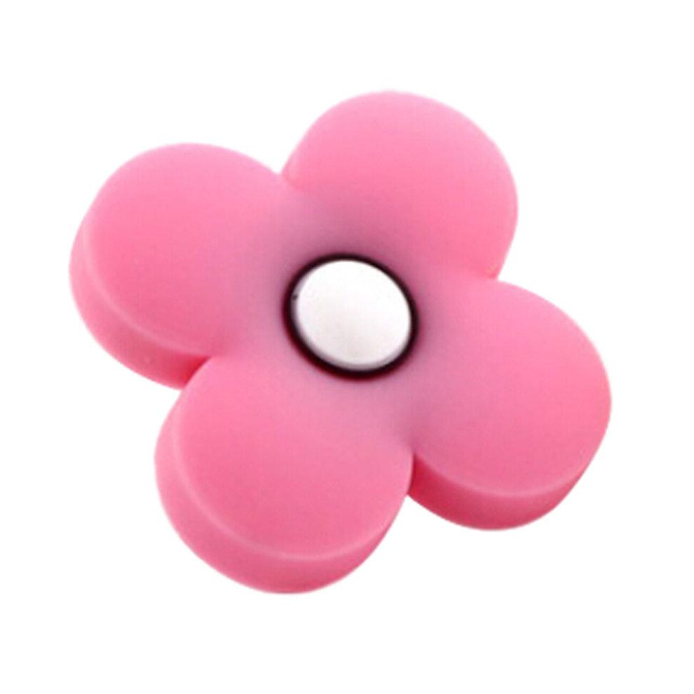2pcs Beautiful Children Door Handles Solid Pink Flower Shape Drawer