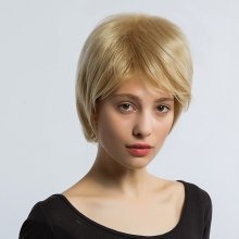 Flax Yellow Short Synthetic Hair Wig