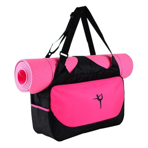 Multifunction Yoga Mat Tote Bag: Lightweight, Durable, Breathable Pouch[Red]