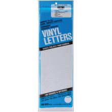 "Permanent Adhesive Vinyl Letters 4"" 95/Pkg-White"