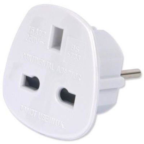 TriStar UK to Europe Travel Adapter - Travel Plug Adapter