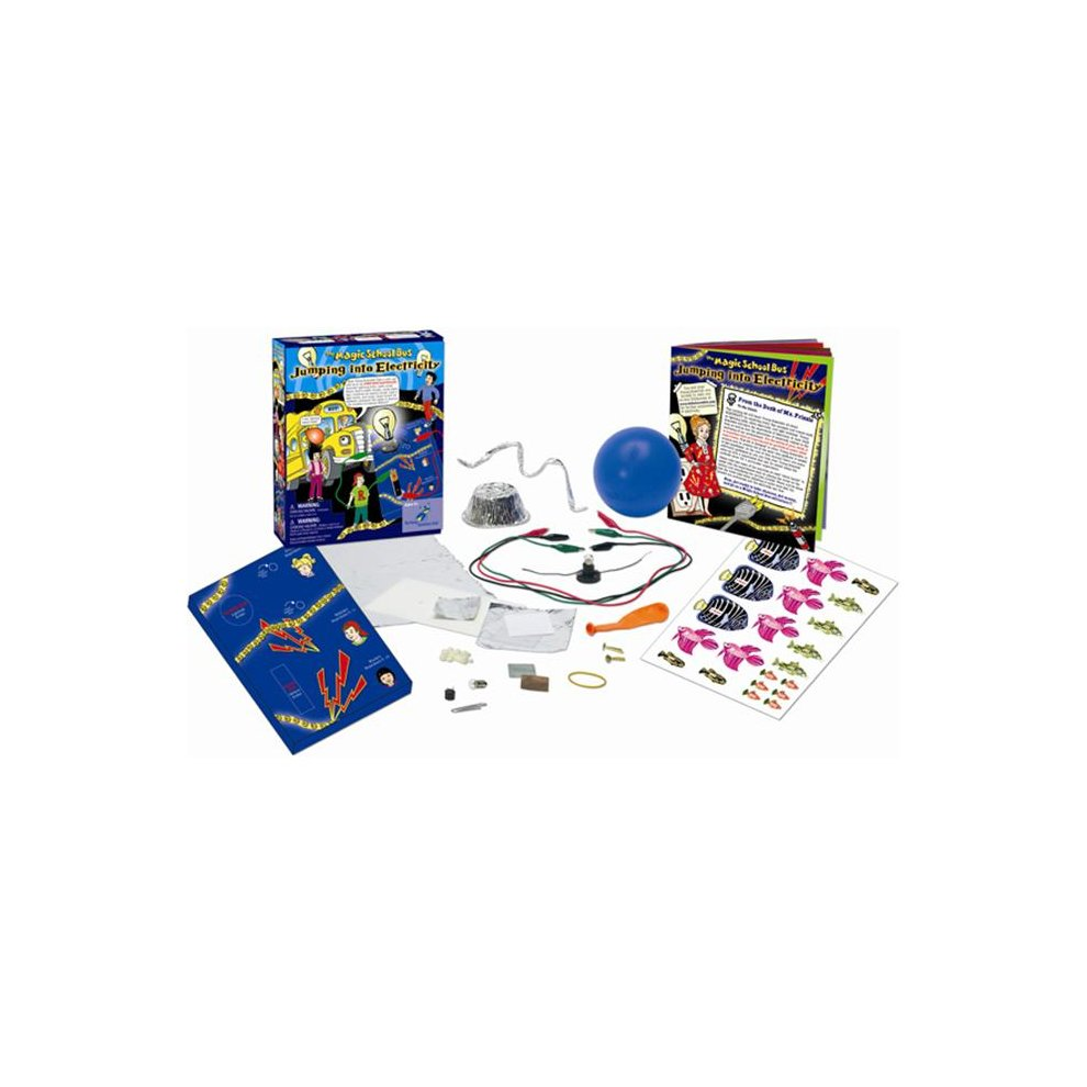 The Young Scientists Club Wh 925 1140 Magic School Bus Jumping Electricity Bibs Teach Electric Circuits Into