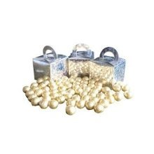 Pack of 9 Gold Foiled Chocolate Balls Filled Holographic Star Silver Cube Balloon Weight Favour Boxes