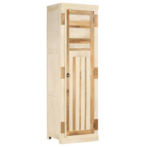 vidaXL Solid Mango Wood Wardrobe 60x50x200cm Bedroom Clothes Storage Unit