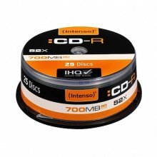 Intenso CD-R, 700MB/80 Minutes, 52x Speed, Cake Box of 25
