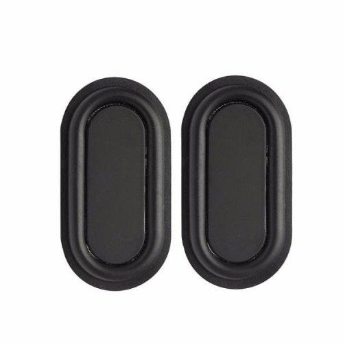 2pcs 78x41mm Speaker Vibrating Diaphragm Sound Box Rubber Vibrating Plate