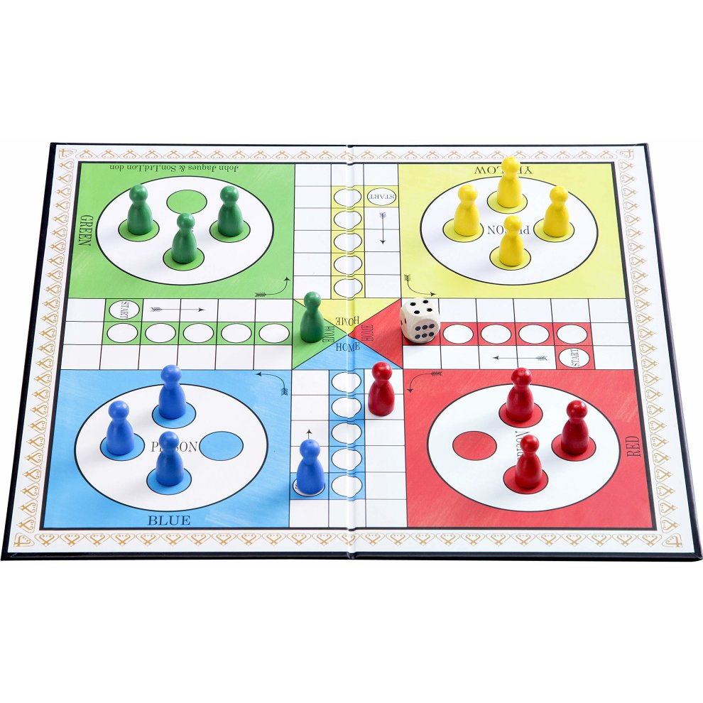 Jaques of London Ludo - Ludo Board Game Set 12