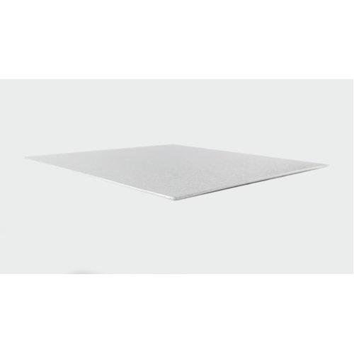 "6"" Thin Silver Square Cake Board 3mm Thick"
