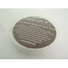 Smiffys Make-up Fx, Dark Brown, Aqua Face And Body Paint, 16ml, Water Based - -  face paint smiffys body fx fancy dress make up brown 16ml accessory