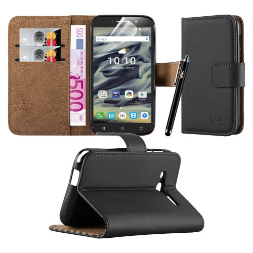 """For Pixi 4 (4.0"""") 3G 4034X Leather Wallet Case"""
