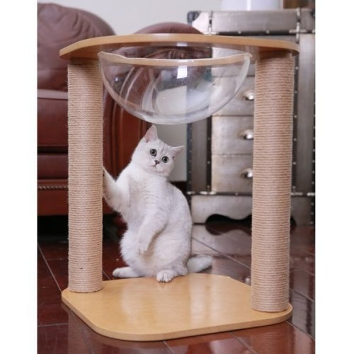 Cat Bed Scratching Post Sisal Domed Unusual Stylish
