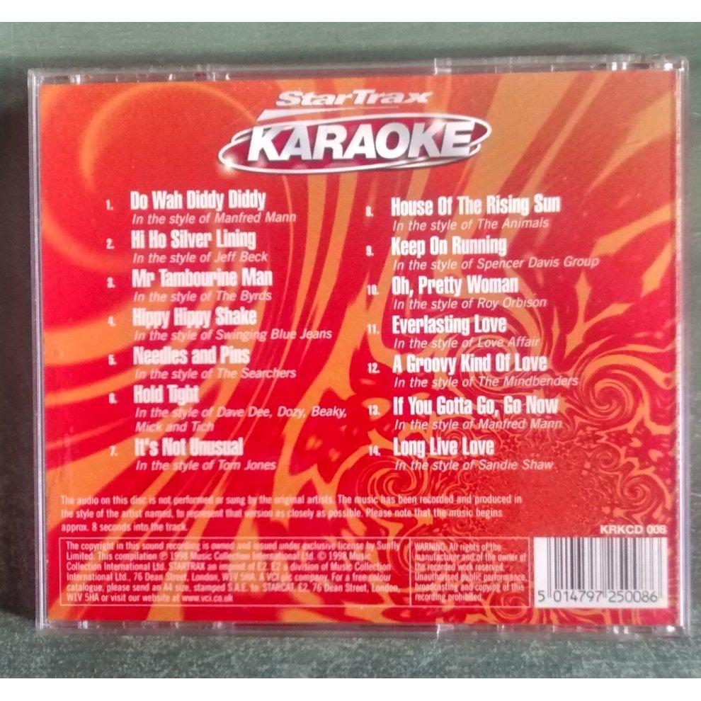 StarTrax Karaoke Swingin' Sixties CD with Full Lyrics on OnBuy