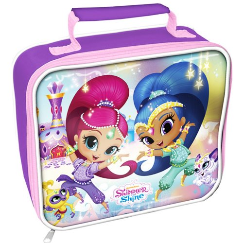 Shimmer And Shine Childrens/Girls Official Rectangle Lunch Bag