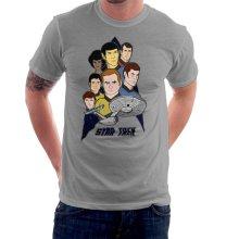 f627e212 Star Trek the Animated Series Captain Kirk Spok Men's T-Shirt