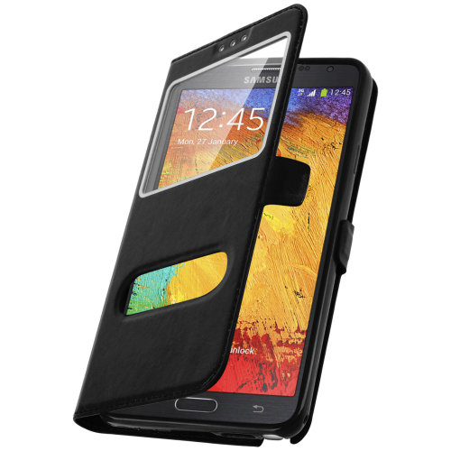 Double window flip standing case for Galaxy Note 3 with TPU shell – Black on OnBuy