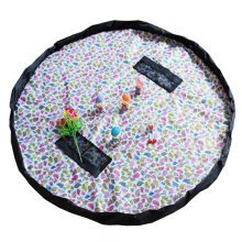 Baby Kids Play Floor Mat Toy Storage Bag  Quickly Easily Folds Up,Colored birds