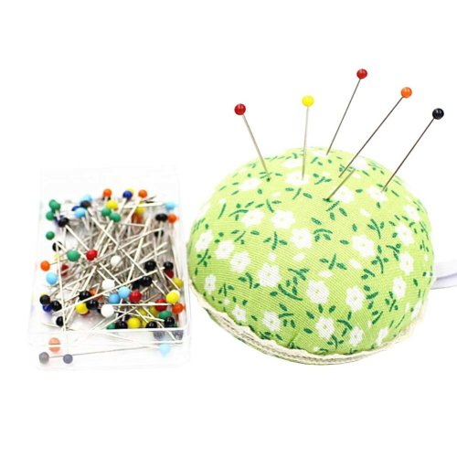 Wrist Wearable Pin Cushions and 50 Pins Set for Needlework - 03