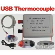 USB Thermocouple Temp Detector Take Data Logger Sensor Analyzer Probe