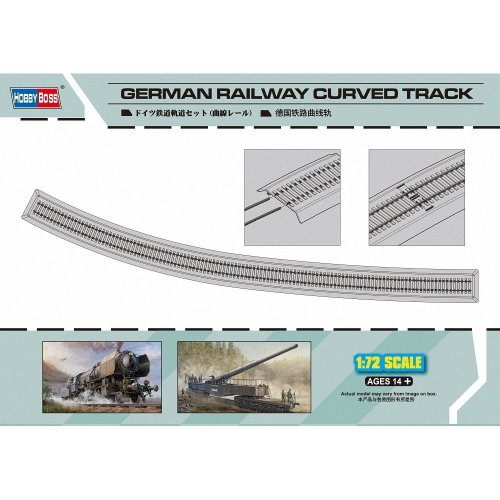 Hbb82910 - Hobbyboss 1:72 - German Railway Curved Track