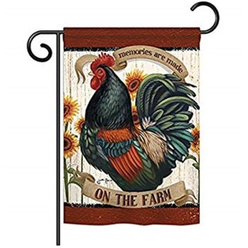 Breeze Decor BD-FA-G-110116-IP-BO-D-US18-WA 13 x 18.5 in. Memories on the Farm Nature Animals Impressions Decorative Vertical Double Sided Garden Flag