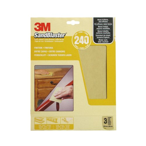3M SandBlaster Sandpaper Sheets Universal, beige, 4298